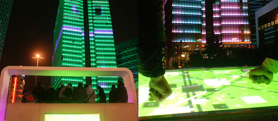 Touch, interactive urban installation, 2006.