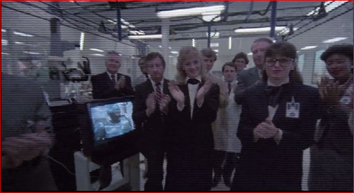 capture d'écran de {RoboCop}, Paul Verhoeven, Orion Picture Corporation, 1987, (min 28-29).
